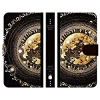 ブレインズ OPPO Reno5 A 手帳型 スマホ ケース カバー オールの魔法書 よう 魔法 月 星 宇宙 wonder collection