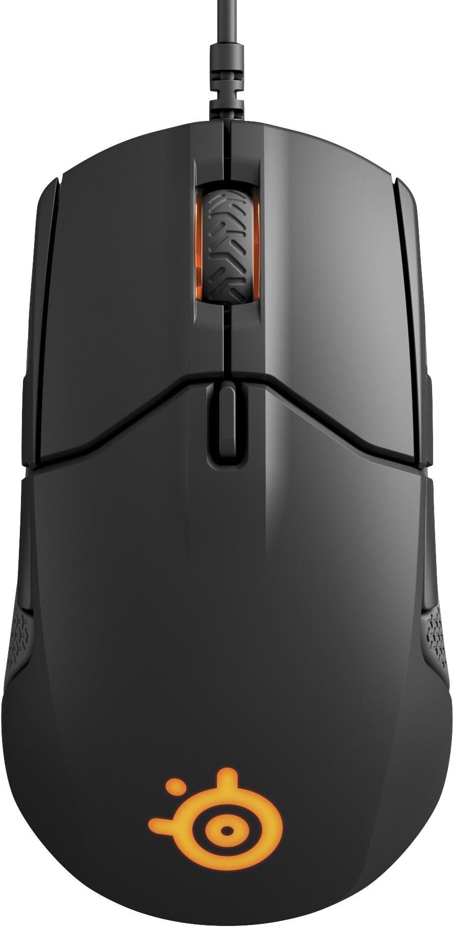 SteelSeries Sensei 310 Gaming Mouse - 12,000 CPI TrueMove3 Optical Sensor - Ambidextrous Design - Split-Trigger Buttons - RGB Lighting, Black