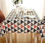 Mdd Tech moderno unico Triangle design antipolvere tovaglia per tavolo quadrato, Pink, 90x140cm