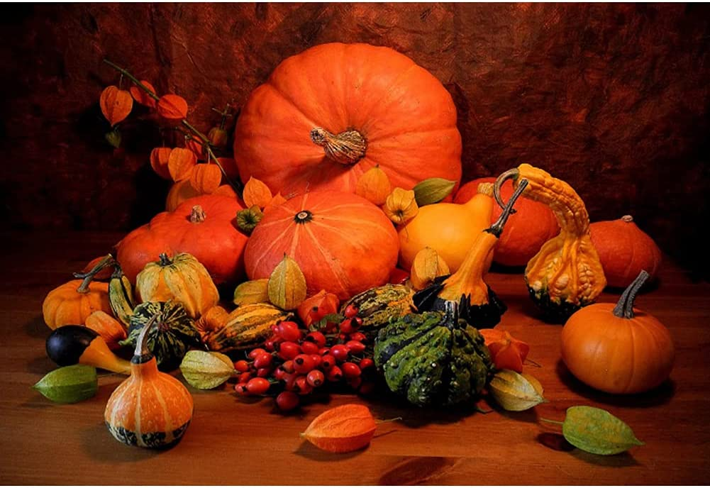 Yeele 10x8ft Autumn Thanksgiving Harvest Pumpkin OFFicial Max 57% OFF site Rustic Backdrop