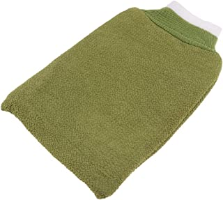 D DOLITY Back Scrubber Exfoliating Shower Mitts - Skin Care Body Cleaning Bath Gloves - Dead Skin Cell Removal Tool - Green