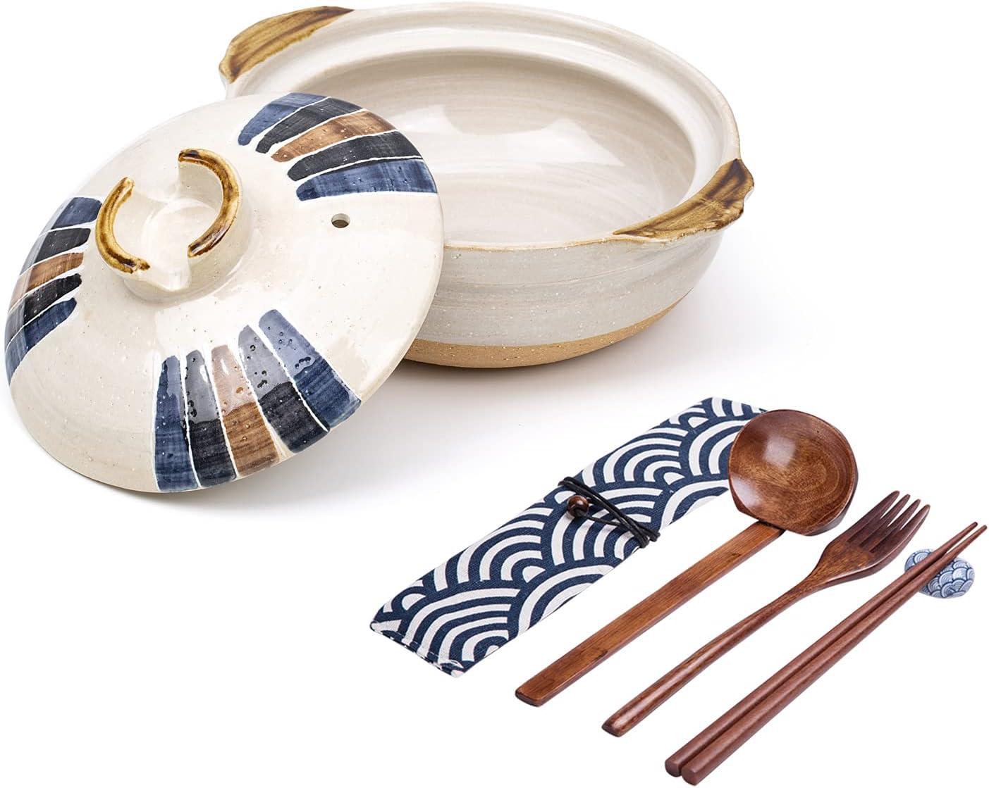 Ceramic Ramen Bowl Set with Las Vegas Mall Finally resale start Lid Noodl Chopsticks Spoons 30oz