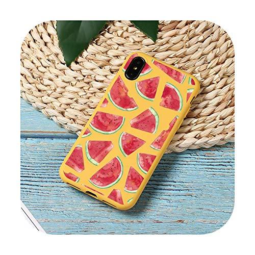 Verano fruta sandía limón teléfono caso caramelo color para iPhone 11 12 mini pro XS MAX 8 7 6 6S Plus X SE 2020 XR-a11-iPhone11pro