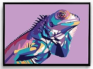 OMG Pop Prints Iguana Limited Poster Artwork - Professional Wall Art Merchandise (More (8x10)