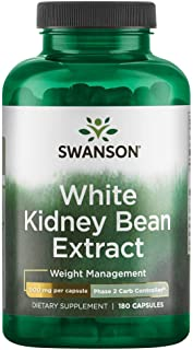 Swanson Phase 2 Carb Controller White Kidney Bean Extract 500 Milligrams 180 Capsules