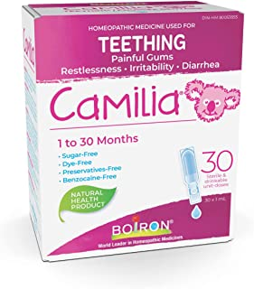 Boiron Camilia Baby Teething Relief Medicine, 30 unit-doses (1 ml each). Camilia relieves pain, restlessness, irritabilit...