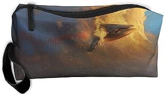 Jessent Coin Pouch Simple Flower Pen Holder Clutch Wristlet Wallets Purse Portable Storage Case Cosmetic Bags Zipper