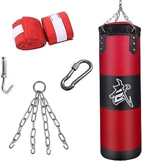 MAXSTRENGTH Sac de frappe autonome pour MMA Sacs lourds Muay Thai Gants dentra/înement de frappe Gants de frappe de poignet enveloppements de prot/ège-t/ête Arts martiaux