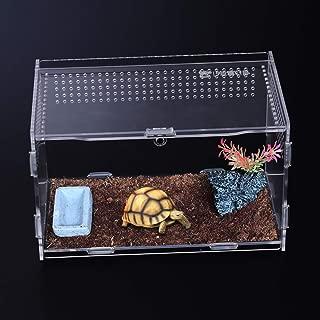 POPETPOP Reptile Breeding Box-Acrylic Terrarium Containers-Portable Reptile Terrarium Habitat for Mini Pet Houses