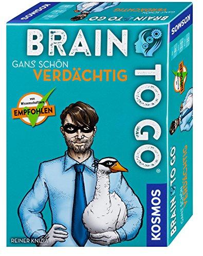 KOSMOS 690830 - Brain to go - Gans schön verdächtig. Spielend das Gehirn  trainieren mit Denksport für zwischendurch. Merkspiel, Gesellschaftsspiel  für 1 - 5 Spieler ab 8 - 99 Jahre, einfache Regeln