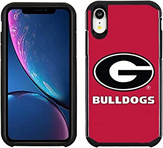 Prime Brands Group Cell Phone Case for Apple iPhone XR - Red/Black - NCAA Licensed Case for Georgia Bulldogs