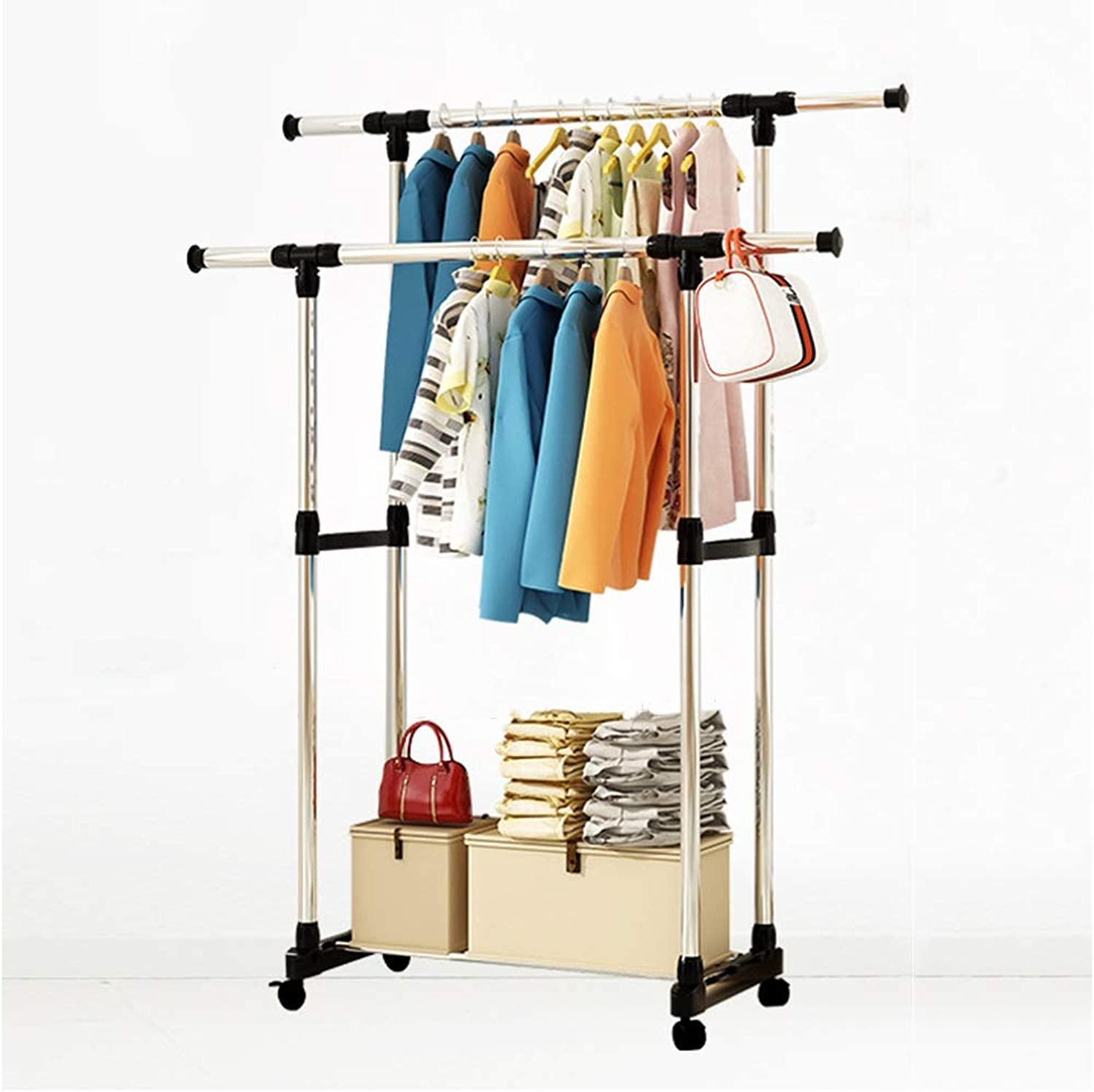 Standing Coat Racks Metal Clothes Rack Modern Hat Coat Rack Simple Coat Stand Clothes Tree Bedroom Living Room Floor Hanger -0223