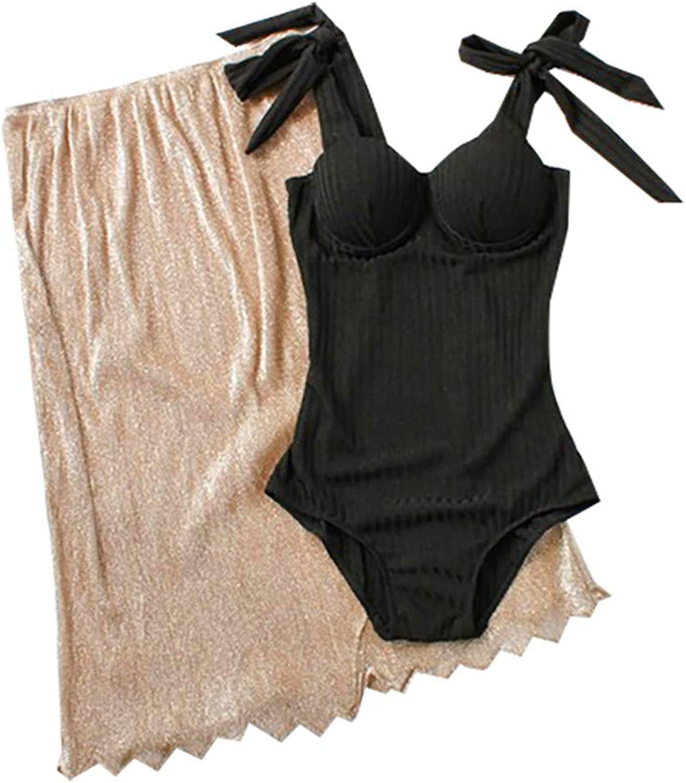 Swimsuit Bikini, Large Open Back Design Tied with Triangle Bikini Swimsuit