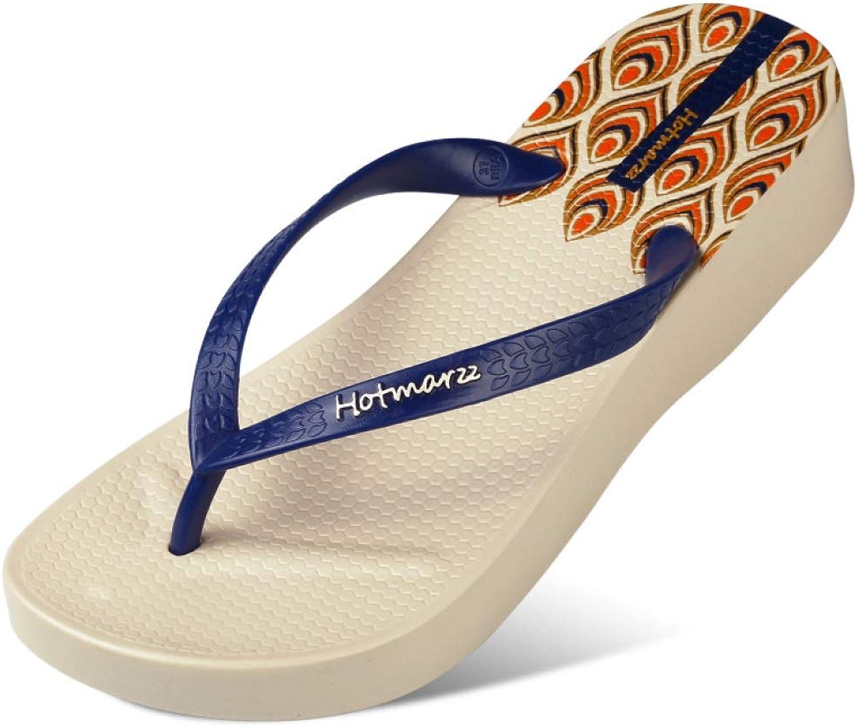 MEIZOKEN Women High Heel Platform Flip Flops Wedges Slippers Summer Slippers House shoes Beach Thong Sandals
