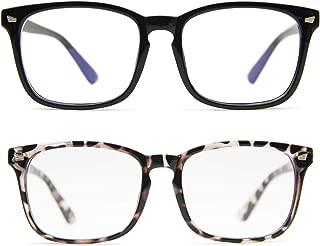 IFHTech Blue Light Blocking Glasses, Anti Eye Strain Headache (Sleep Better),Computer Reading Glasses UV400 Transparent Lens