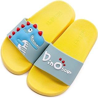 Boys Girls Dinosaur Slide Sandals Cute Cartoon Water Shoes Toddler Little Boys Beach Pool Shower Slippers
