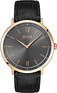 Black Leather Watch-1513649