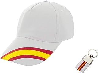 Desconocida Gorra béisbol Bandera de España y Llavero Lona 4 Colores Diferentes