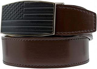 USA Antique Brown Smooth Leather with Antique Aston Buckle Belt