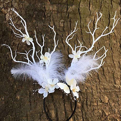 N / A Simulationsgeweih, Zweige, übertriebene Kopfschnalle, Blumen, Schmetterling, Feenkopfbedeckung (1 Stück)