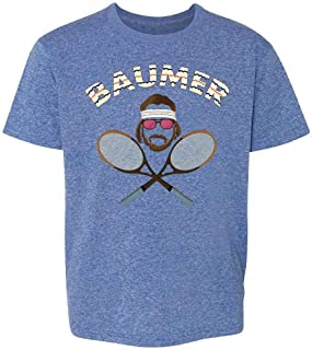 Baumer Richie Tennebaum Tennis Halloween Costume Youth Kids Girl Boy T-Shirt