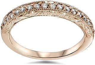 1/2ct Vintage Diamond Rose Gold Wedding Ring 14K