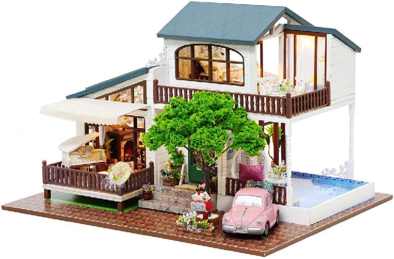 Yuanshangzhuanmai London Stil Villa 31  24  22 cm Montage Puzzle 3D puppenhaus gebäude Modell Holz Kinder Spielzeug Geschenk DIY B07QGLMV2J Merkwürdige Form | Neu