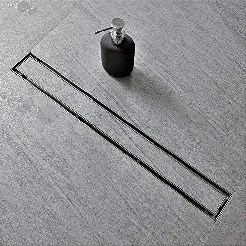 Neodrain 24-Inch Linear Shower Drain with Tile insert Grate, Professional Brushed 304 Stainless Steel Rectangle Shower Floor Drain Manufacturer,Floor Shower Drain