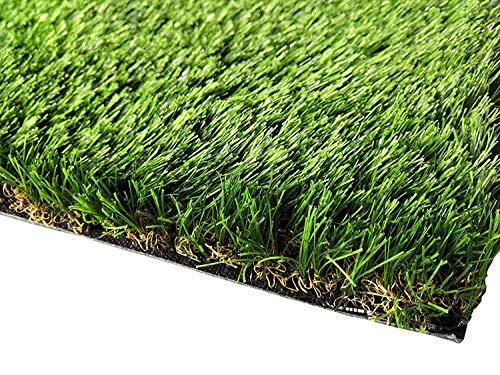 PZG Commerical Artificial Grass Patch w/ Drainage Holes & Rubber Backing | Extra-Heavy & Durable Turf | Lead-Free Fake Grass for Dogs or Outdoor Decor | Total Wt. - 94 oz & Face Wt. 62 oz | 8' x 5'
