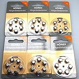 36 Hörgeräte Batterien Basic von Hörex Größe...