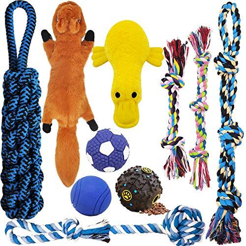 MLCINI Dog Toys Plush Dog Squeaky Toys Rope Dog Toy Dog Chew Toys Dog Toys for Medium Large Small...