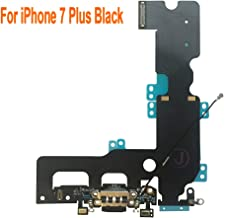Johncase OEM Charging Port Dock Connector Flex Cable + Microphone + Cellular Antenna + Vibration Motor Connector Replacement Part Compatible for iPhone 7 Plus All Carriers (Black)