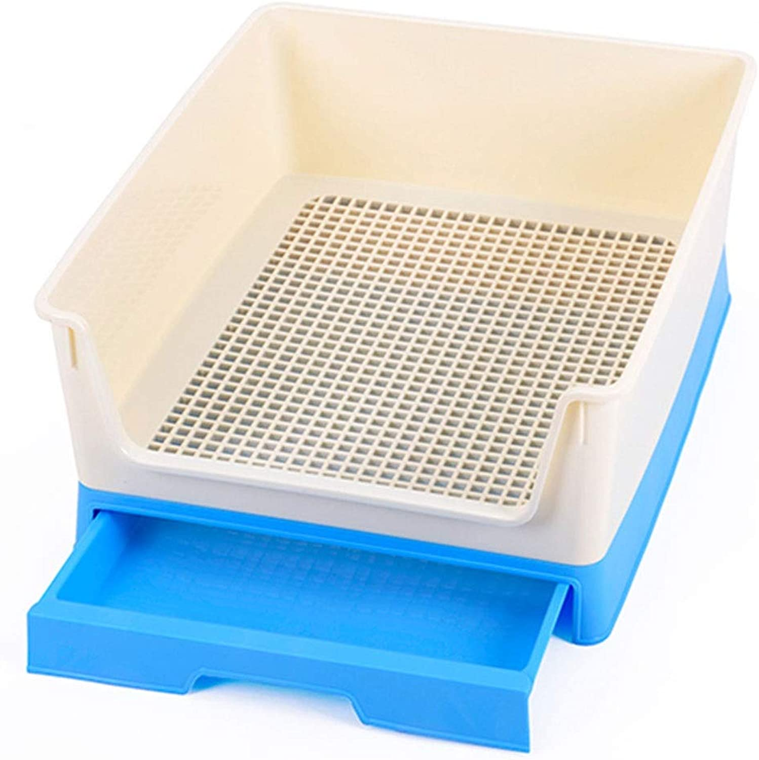 BEITAI Resin Drawer Type Fence Dog Toilet Indoor Durable Dog Toilet Resistant Resina Dog Tools Pet Clean Products (color   bluee)