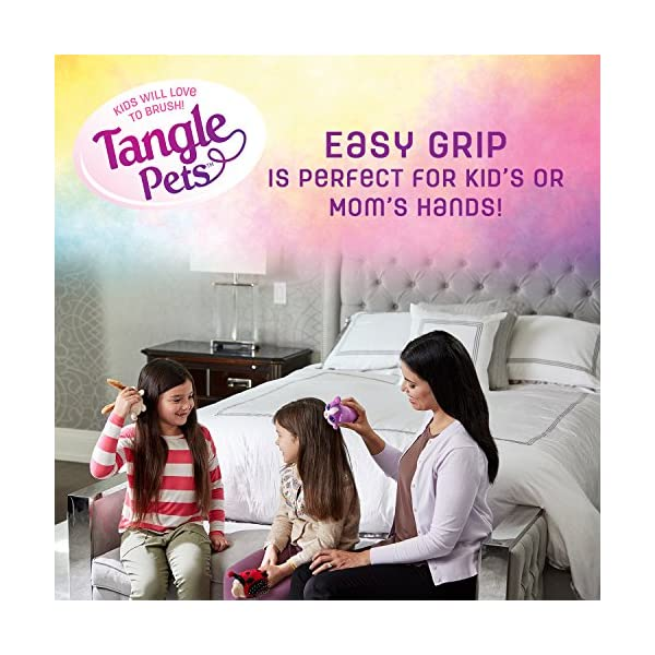 Tangle Pets SPARKLES THE UNICORN- The Detangling Brush in a Plush, Great for Any Hair Type, Removable Plush, As Seen on Shark Tank 7