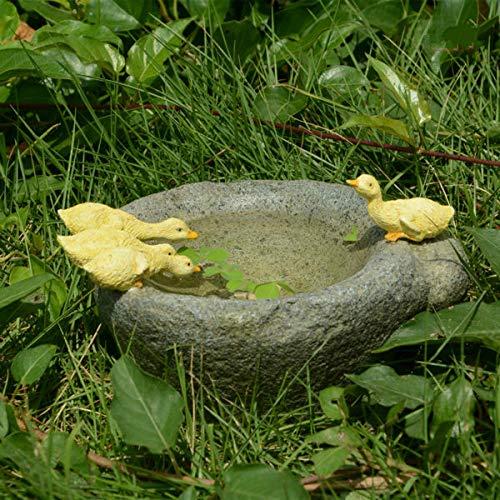LASISZ Original Qualität Design Blumentopf Bonsai Imitation Steinmörtel Entchen Innenausstattung Außendekoration