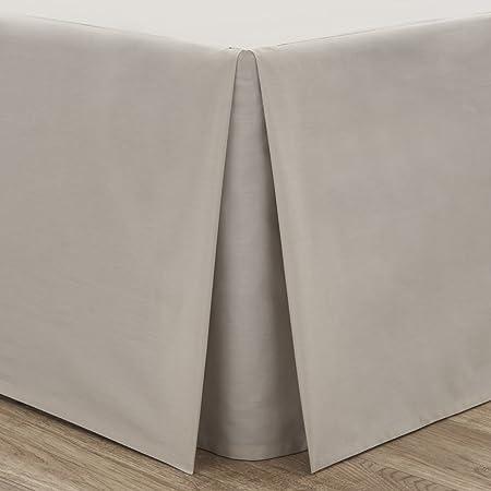 Catherine Lansfield Valance - Faldón para Cama (150 x 220 cm, percal, no Necesita Planchado), Color Beige