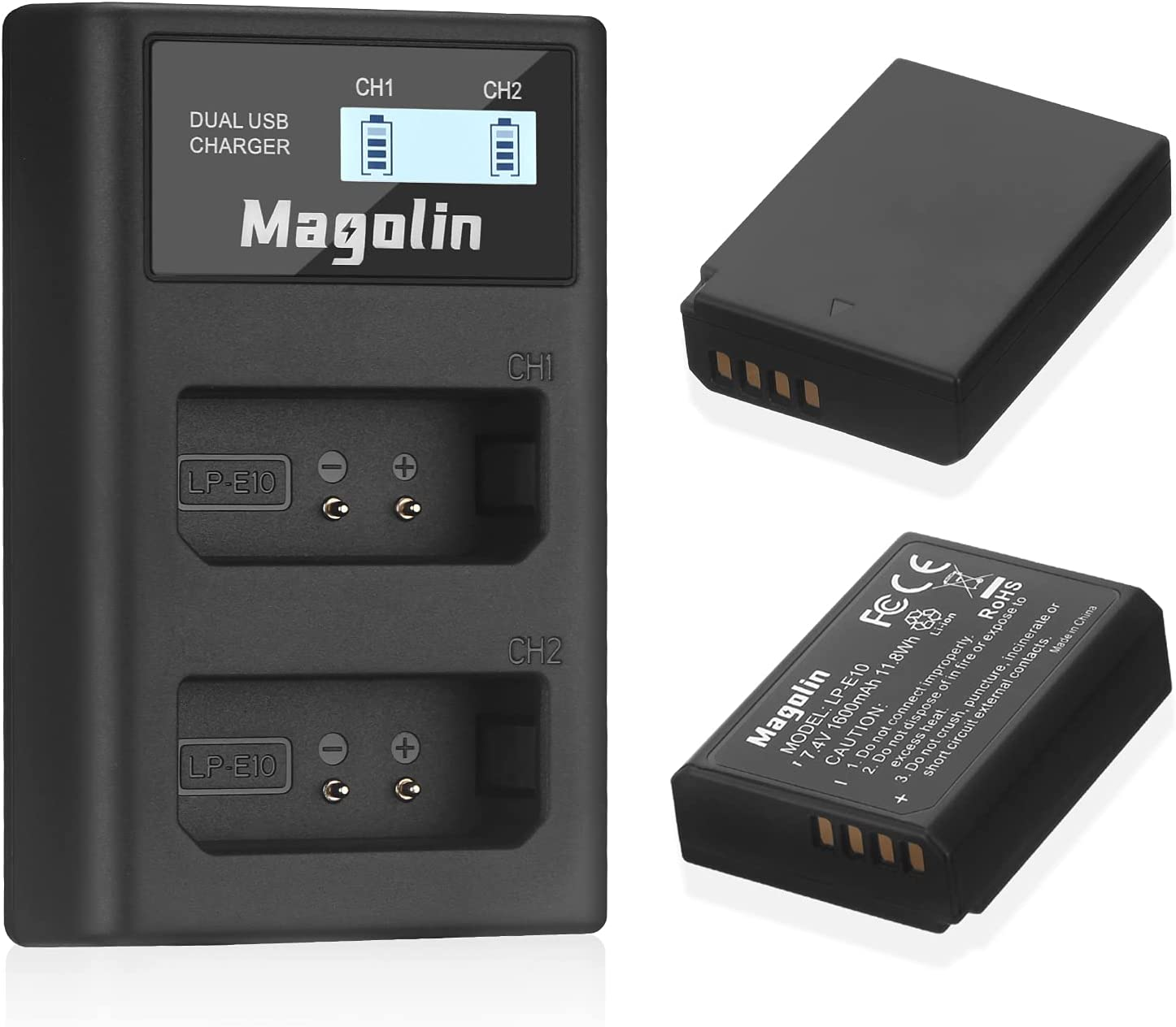 Magolin LP-E10 Batteries and Dual Max 79% OFF unisex Battery for USB Charger Canon