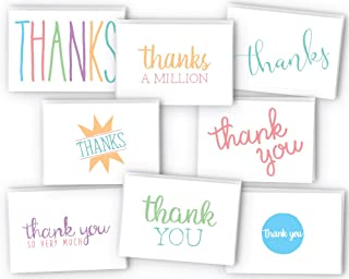 Everyday Colorful Thank You Cards with Envelopes - Cute & Fun Variety for Any Occasion - 48 Pack