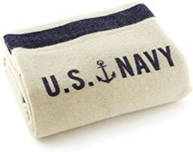 product image for Faribault US Naval Throw, Cream and Navy