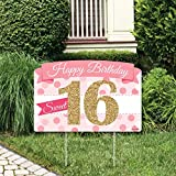 Big Dot of Happiness Sweet 16-16th Birthday Party Yard Sign Lawn Decorations - Happy Birthday Party Yardy Sign