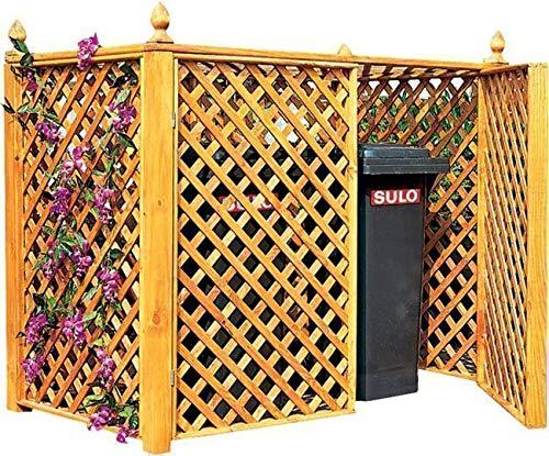 Promadino Mülltonnenbox für 2 Tonnen