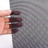 Gastokyle 40 x 13 inch Universal Car Grill Mesh, Aluminum Alloy Grille Mesh Sheet, Automotive Grille Insert Bumper Rhombic-Grid Hole 3x6mm, Black