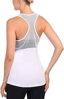 Women Racerbacks Tank Mesh Yoga Tops for Workout Sports Fitness Tank Tops Backless Shirts.JNINTH
