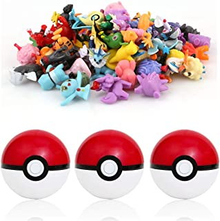 sqzkzc-48 Pokémon Figuras de colección aleatorias + 3 Pok