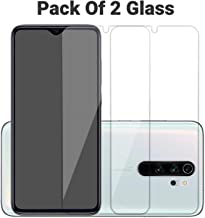 POPIO Tempered Glass Screen Protector For Xiaomi Redmi Note 8 Pro (Transparent) Full Screen Coverage (except edges) with Easy Installation Kit, Pack of 2