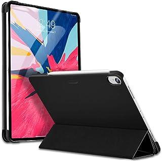 ESR iPad Pro 11 ケース Apple Pencilのペアリングとワイヤレス充電対応 iPad Pro 11 カバー 軽量 薄型 PUレザー 三つ折スタンド オートスリープ機能 2018年秋発売のiPad Pro 11インチ専用(マット・ブラック)