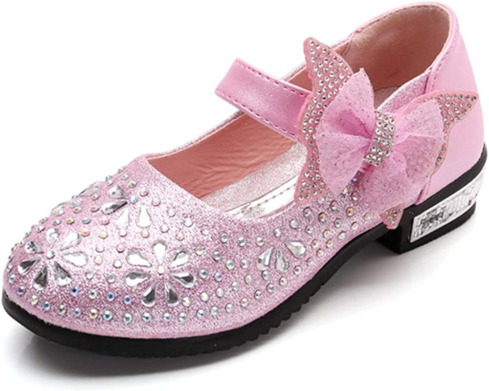 Little Girl's 2021 model Mary Jane Flats Sparkle Wedding Party Max 68% OFF Princess Dre