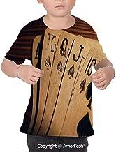 PUTIEN Poker Tournament Decorations Girl's Casual Button Down Short Sleeve Shirt,XS-2XL