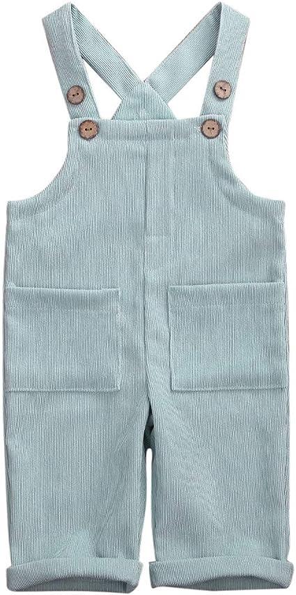 Hertsen Baby M/ädchen Junge Cord Strap Straps-Overall Latzhose Overall Einteiler Fr/ühling Herbst Kleidung mit Tasche