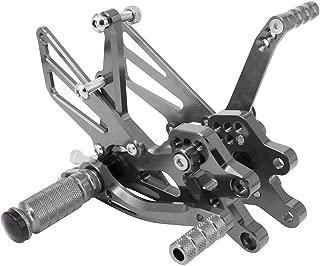Rearsets Foot pegs Footrests Adjustable Rear Set Footpegs Foot Pedals CNC For Kawasaki ZX-10R ZX10R NINJA 2004-2005 Motorcycle - Titanium
